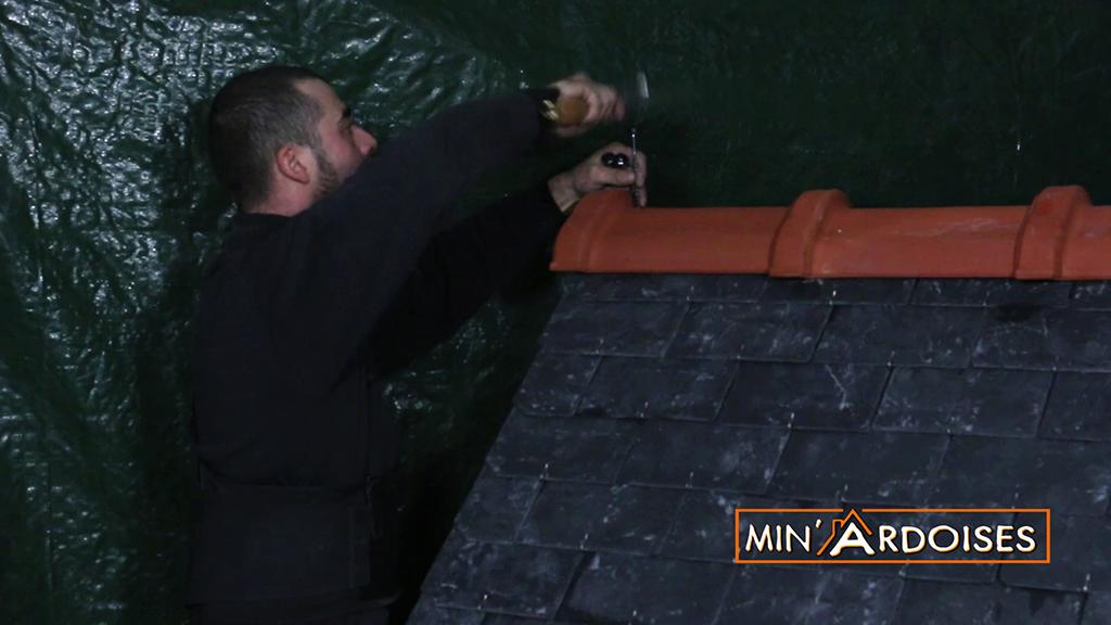 Minardoises tutoriel 6 pose d une ventilation et des fa ti res - Couverture ardoise pose ...