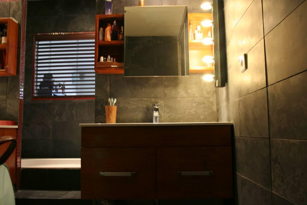 Minardoises salle de bain ardoise br sil noir - Mur en ardoise ...